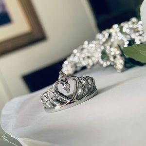 Jewelry - GORGEOUS DIAMOND ACCENT RHINESTONE TIARA RING